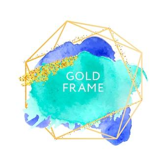 Abstrakcyjny wzór tekstury farby pędzlem akrylowy obrys nad ramką