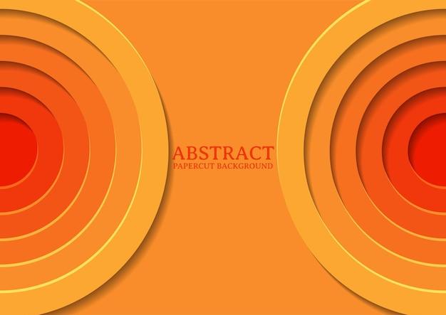 Abstrakcyjny wzór tła w wycinanym okręgu z nakładającą się warstwą, tło wycinane z okręgu 3d