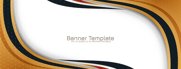 Abstrakcyjny wzór transparentu w stylu złotej fali wektor