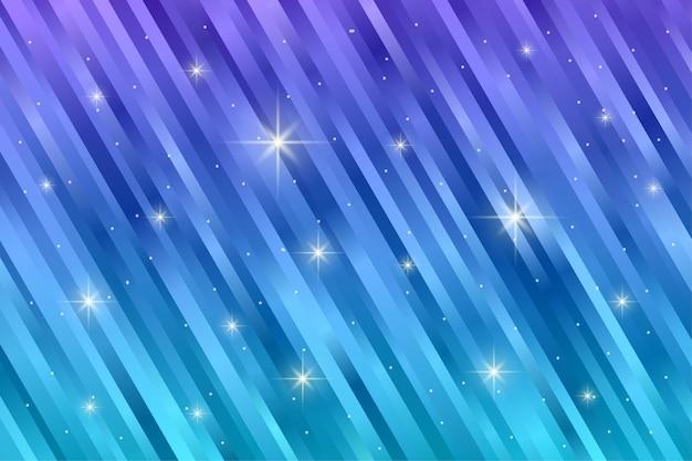 Abstrakcyjny wzór w paski z migającym światłem gwiazdy w kolorze gradientu