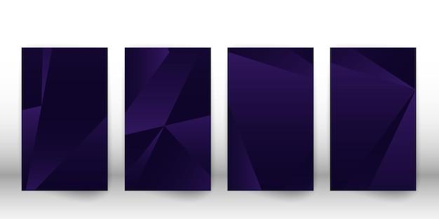 Abstrakcyjny wzór wielokąta. ciemny projekt okładki z geometrycznymi kształtami. szablon okładki wielokąta. ilustracja wektorowa.