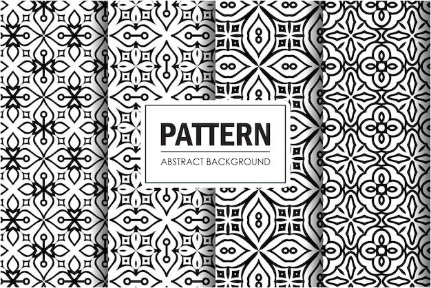 Abstrakcyjny wzór zestaw w kolorze czarnym i białym