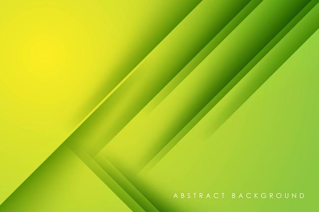 Abstrakcyjny zielony ukośny kształt tła w kształcie papieru