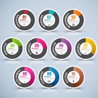 Abstrakt 3d cyfrowy biznes marketing infographic. może być używany do koncepcji biznesowej z