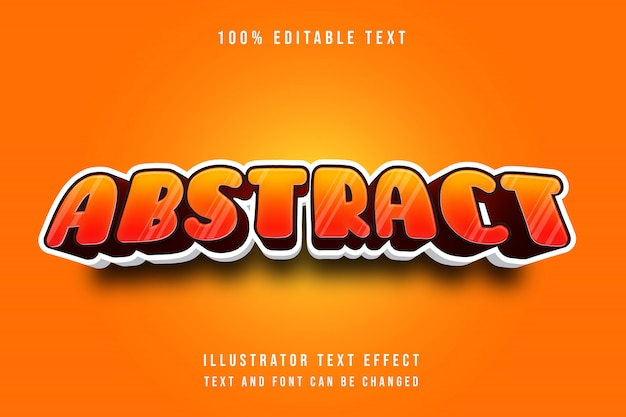Abstrakt, 3d edytowalny żółty czerwony teksta skutka nowożytny cienia styl