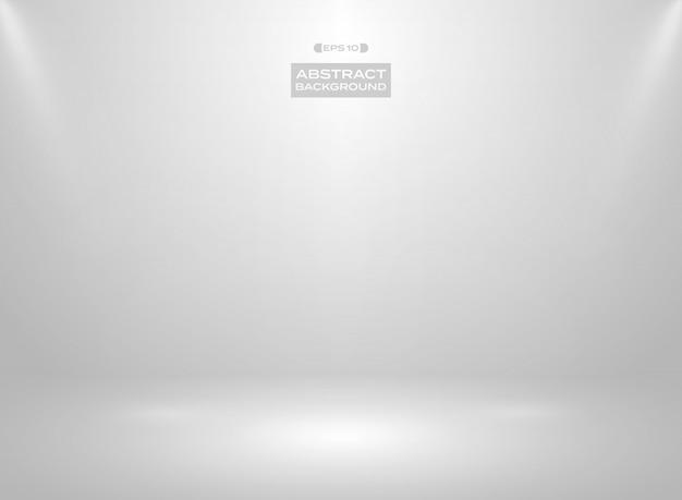 Abstrakt gradientowy biały kolor w pracownianym izbowym tle