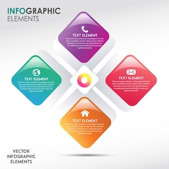 Abstrakt infographic projekty