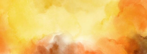 Abstrakt nawierzchniowa żółta pomarańczowa akwarela