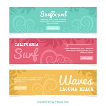 Abstrakt surfowania banery