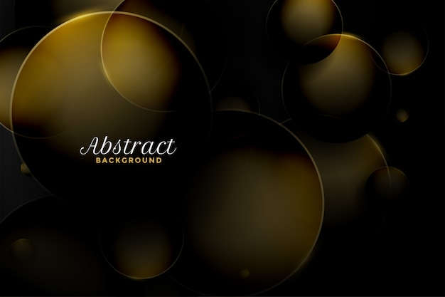 Abstrakta 3d stylu kółkowy złoty tło