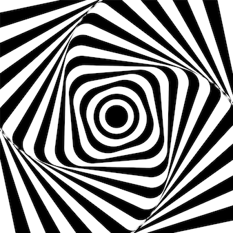 Abstrakta kręcony czarny i biały tło