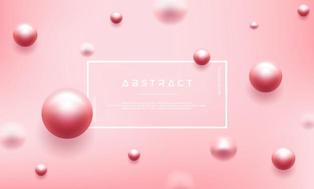 Abstrakta różowy tło z pięknymi perłami