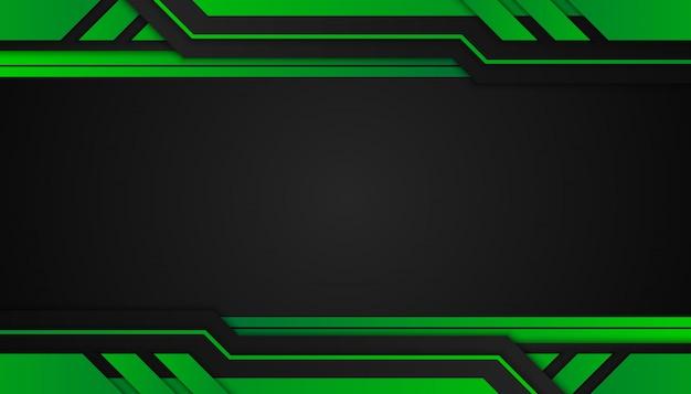 Abstraktów zieleni geometryczni kształty na ciemnym tle