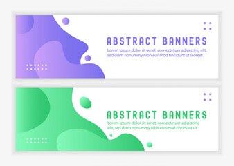 Abtsract Liquid Banners Landsape