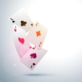 Ace playing card tle, koncepcja kasyno.