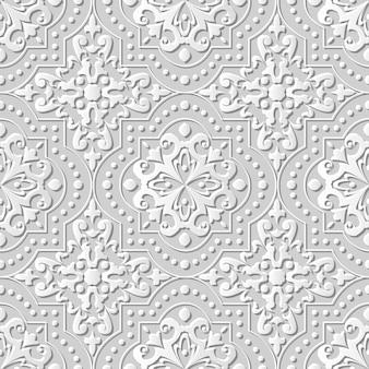 Adamaszek bez szwu sztuki papieru 3d dot line cross square