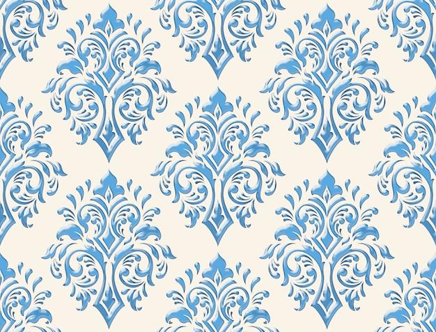 Adamaszek bezszwowe płaskorzeźba w tle. klasyczny luksusowy stary ornament adamaszku, królewski wiktoriański bezszwowych tekstur. vintage wykwintne kwiatowy barokowy szablon.