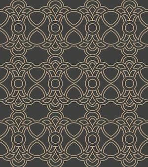 Adamaszek bezszwowe retro wzór tła krzywa krzyż herb łańcucha ramki orientalne.