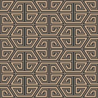 Adamaszek bezszwowe retro wzór tła wielokąt spirala linia geometrii ramki krzyż.