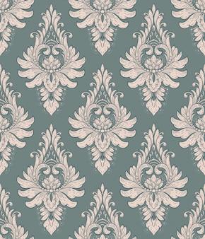 Adamaszek wzór elementu. wektorowy klasyczny luksusowy staromodny adamaszkowy ornament, królewska wiktoriańska bezszwowa tekstura dla tapet, tkanina, zawijanie. vintage wykwintne kwiatowy barokowy szablon.