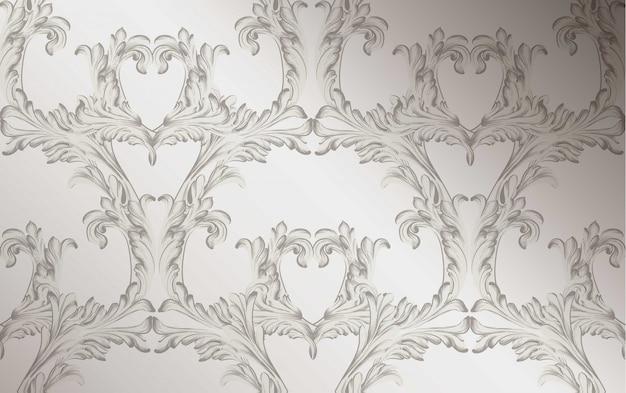 Adamaszek wzór ilustracji wektorowych ornament ręcznie