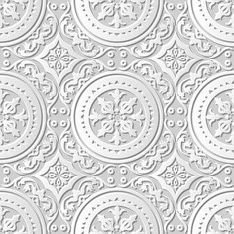 Adamaszkowa bez szwu sztuka papieru 3d round spiral flower
