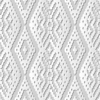 Adamaszkowa bezszwowa grafika 3d z papieru aborygenów krzyż check