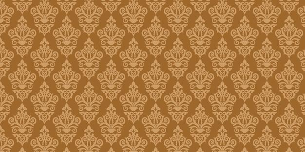 Adamaszkowy deseniowy brown tło