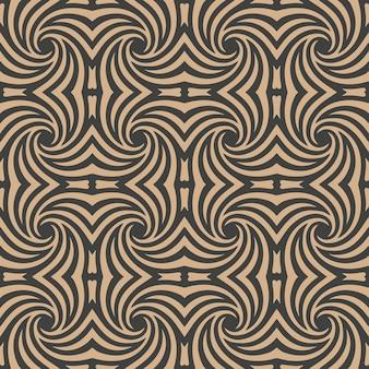 Adamaszku bezszwowe retro wzór tła spiralny wir krzywa krzywa kalejdoskop.