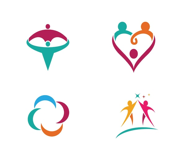 Adopcja i opieka społeczna logo szablon wektor ikona