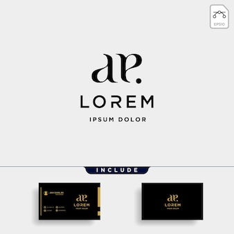 Ae e letter połączony luxury premium logo vector