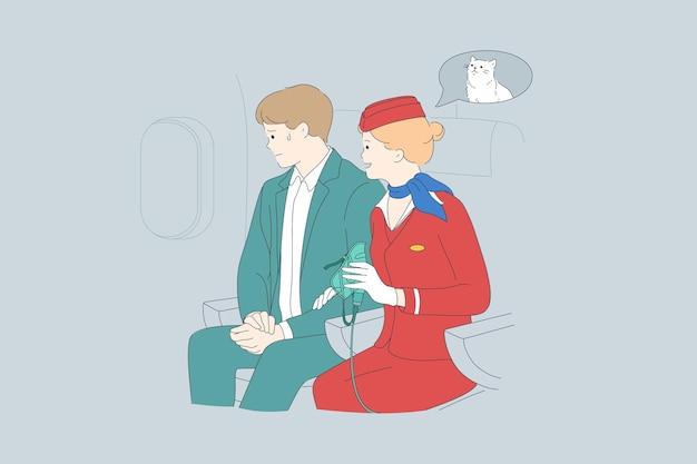 Aerofobia i kłopoty psychiczne w koncepcji samolotu