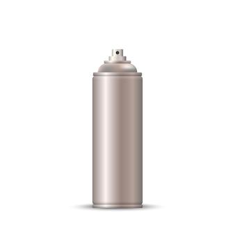 Aerozol w pustej metalowej butelce