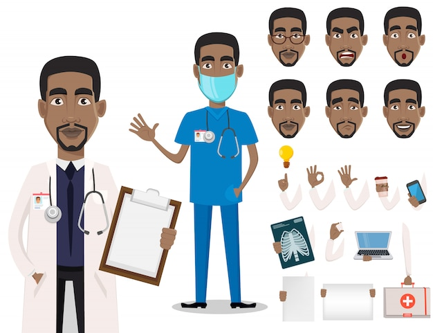 African american lekarz