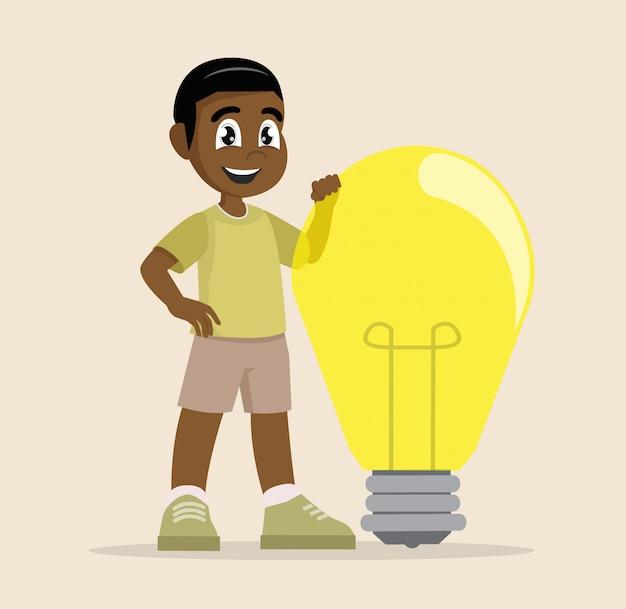 African boy i jego wielki pomysł.