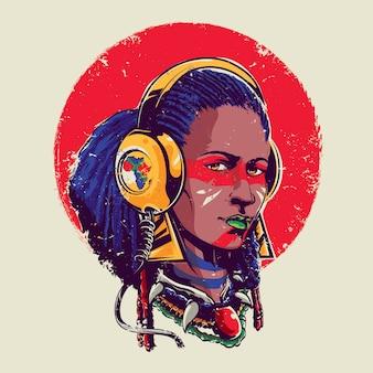 Afro dziewczyna
