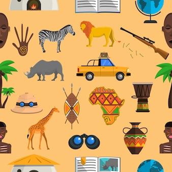 Afryka bezszwowy wzór