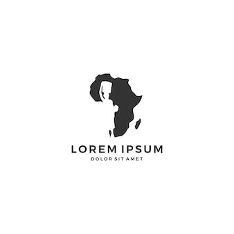 Afryka dziecko logo dziecka