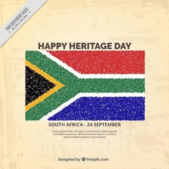 Afryka południowa dni dziedzictwa tle
