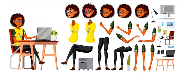 Afrykańska czarna biznesowa kobieta