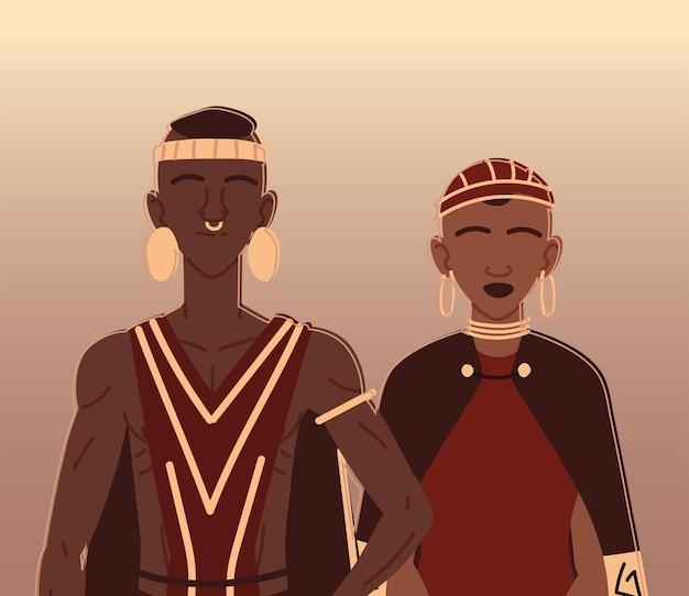 Afrykańska para aborygeńska