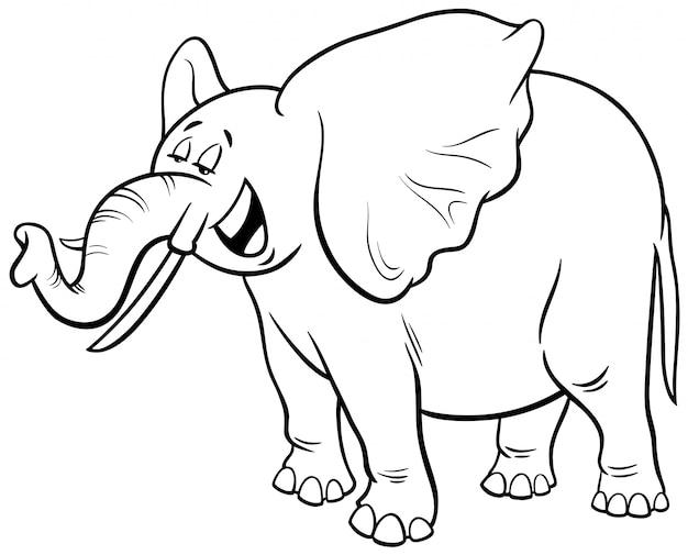 Afrykańska słonia postać z kreskówki kolorystyki książka