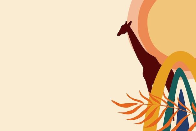 Afrykańska sylwetka motywu boho tła