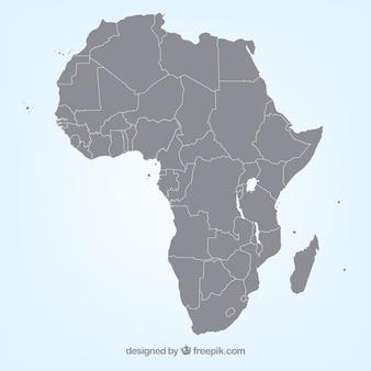 Afrykańska wektorowa mapa