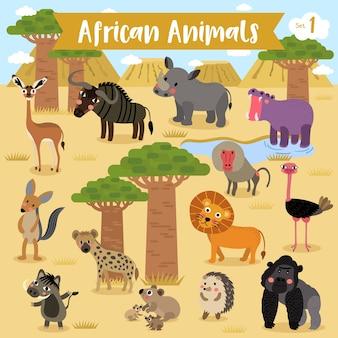 Afrykańska zwierzęca kreskówka