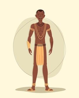 Afrykański aborygeński mężczyzna