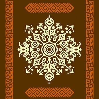 Afrykański styl okręgu ornamentu lub mandali