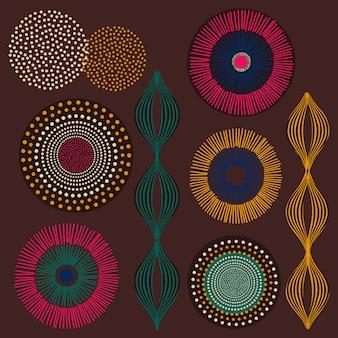 Afrykański zestaw plemiennych projektów