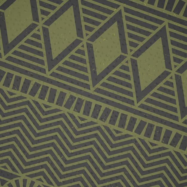 Afrykański zielony wzór