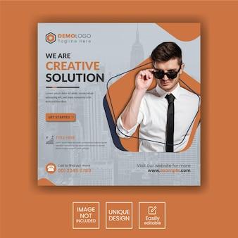 Agencja marketingowa promocji biznesu i korporacyjny baner na instagramie w mediach społecznościowych